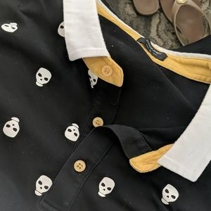 Men's Coofandy Skull Polo Shirt